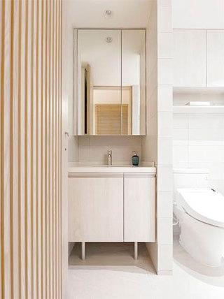 舒适日式小户型洗手台效果图