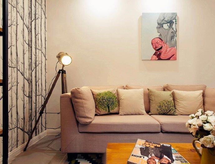 简洁北欧风懒人沙发设计