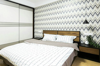 简约波普风卧室背景墙设计
