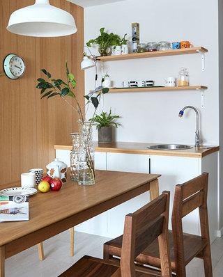 混搭风格公寓木质餐桌图片
