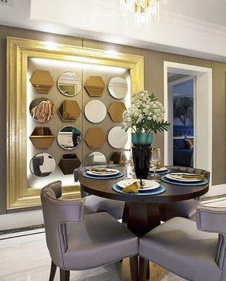 87平样板房装修餐厅装饰图