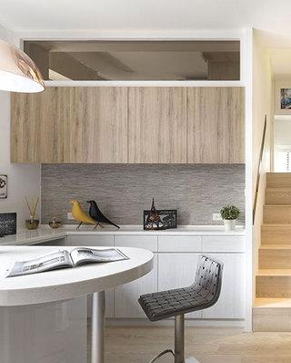 68平北欧风格公寓吧台装修图