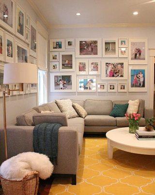 室内照片墙布置摆放图