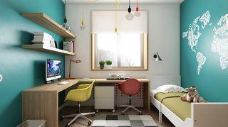 80㎡简约两居室儿童房图片大全