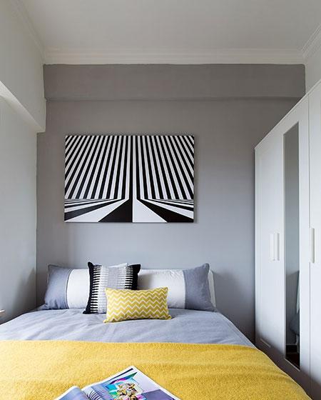 时尚现代北欧风 卧室背景墙设计