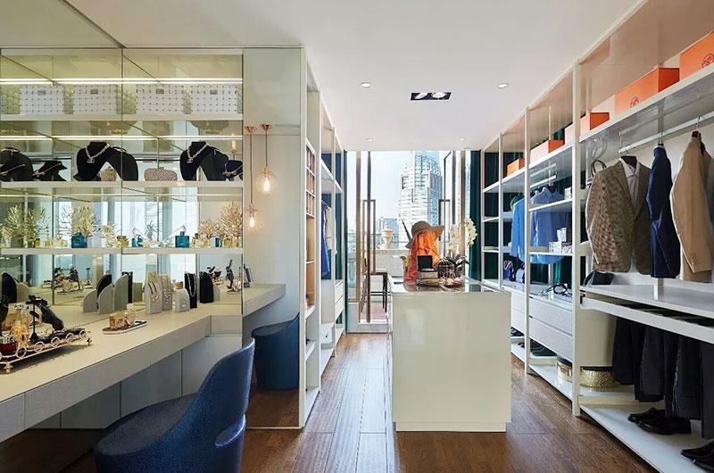 奢华现代风格 衣帽间样板房装修