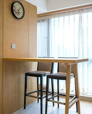 140平新中式风格公寓吧台效果图