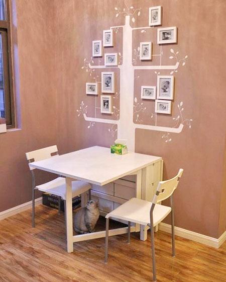 小户型餐厅折叠餐桌装修