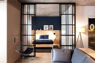 一室一厅小户型客厅卧室隔断设计