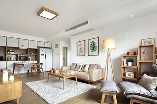 100平日式三居室客厅地毯效果图