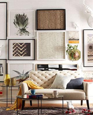 客厅沙发照片墙设计图