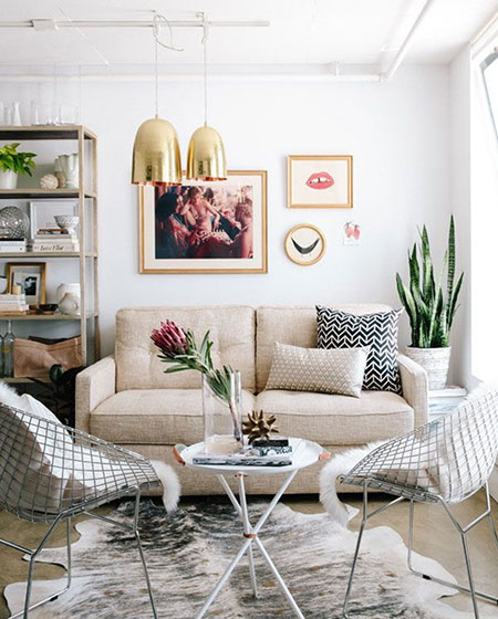 北欧风格客厅照片墙效果图大全