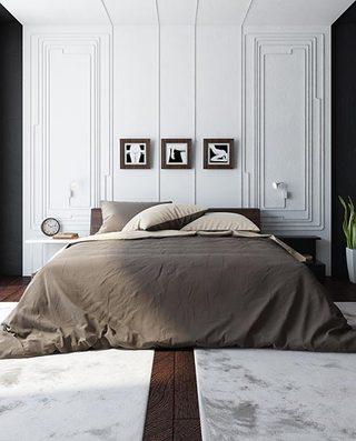 白色系卧室装修装饰效果图