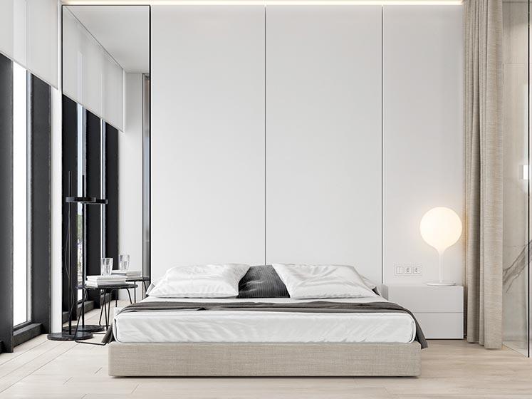 卧室床头背景设计图片大全
