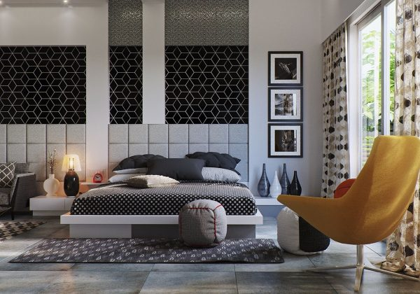 现代卧室设计实景图