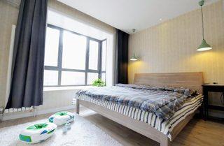 温馨现代宜家风卧室窗帘设计