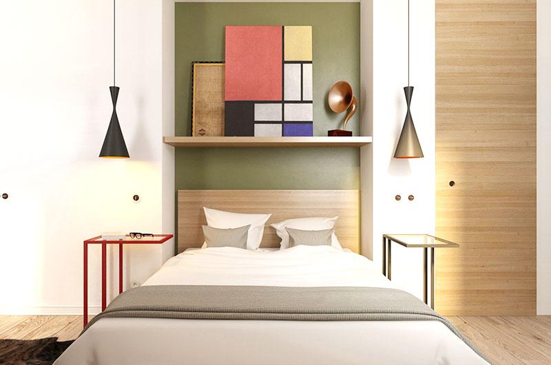 小清新北欧风情 卧室背景墙设计