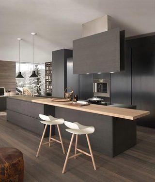 黑色系厨房装修装饰图