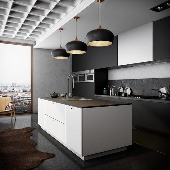 黑白现代简约家居厨房效果图