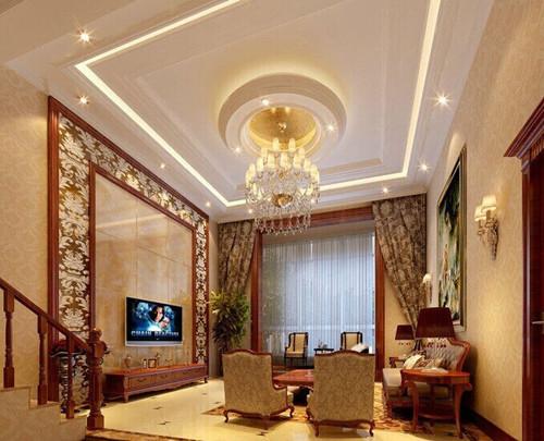 客厅石膏线效果图 简单又好看