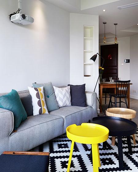 北欧风格实用客厅组合茶几
