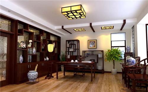 中式书房装修效果图 超具格调的装修设计图片
