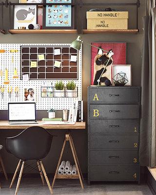 小户型单身公寓书房布置图