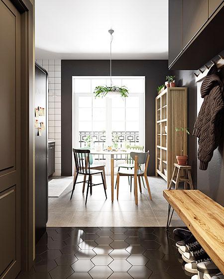 小户型单身公寓门厅装潢装修