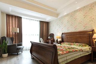 144平美式三居主卧室效果图