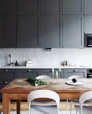 简约厨房灰色橱柜设计图
