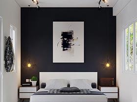 主义之家  10个黑白色卧室摆放图