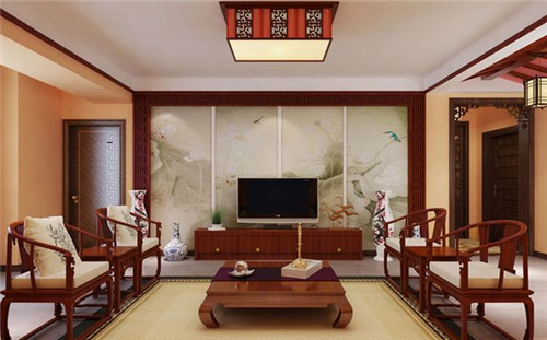 简中式客厅装修效果图 这么漂亮小编醉了!