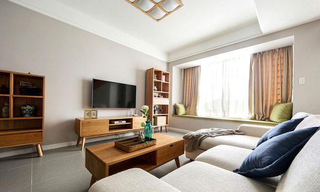 日式风格客厅木制家具图片