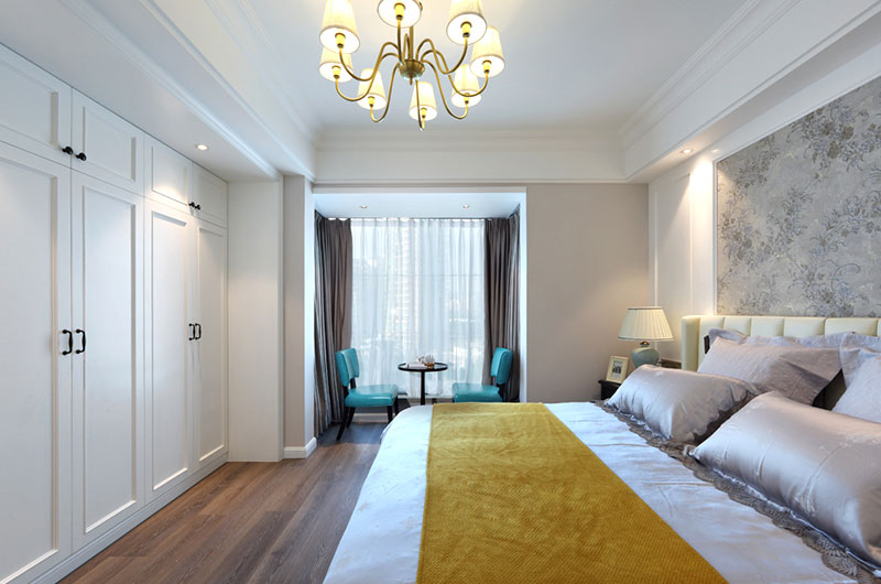 美式风格卧室室内隔断设计