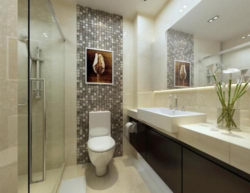装修卫生间效果图 小清新卫生间装修设计