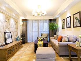 115平美式风格三室两厅装修 简洁清爽