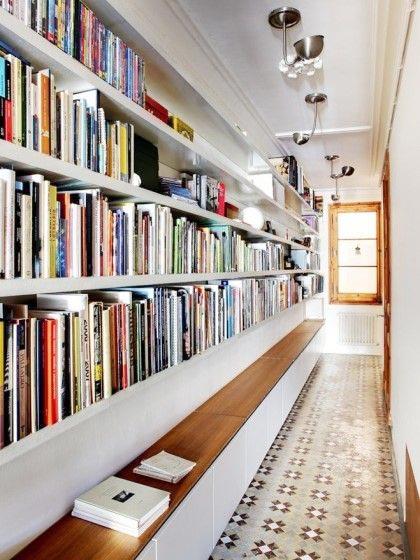 走廊书架装饰构造图