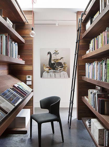阅读室书架布置效果图