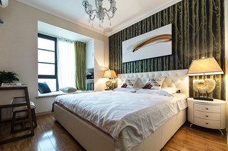 后现代北欧风 卧室背景墙设计