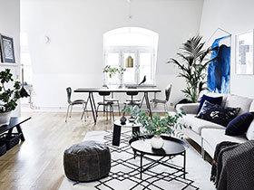 北欧风格两室两厅公寓效果图 低调的华丽