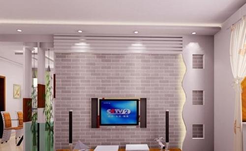 电视背景墙硅藻泥效果图 给您一个家居生活新选择