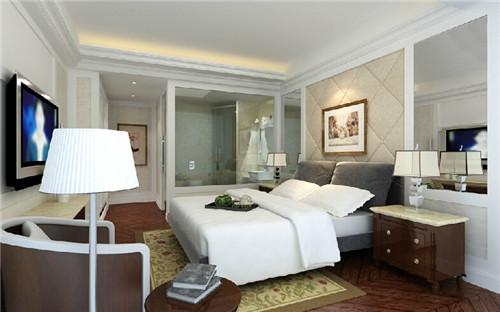 主卧带卫生间装修效果图 20平米卧室还能这么装