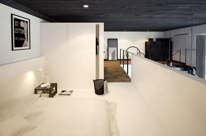75平小户型loft装修卧室装修设计图