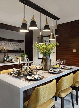 现代风格餐厅布置平面图