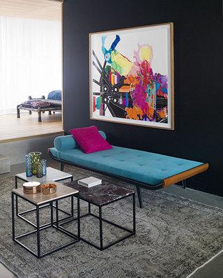 混搭风格公寓装修客厅沙发床图片