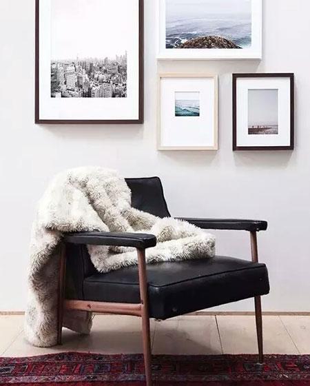 客厅单人沙发背景效果图
