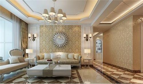 简欧客厅吊顶效果图 为客厅点缀优雅时尚风图片
