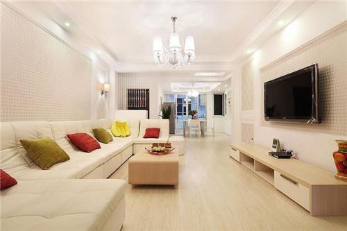 120平米装修效果图—客厅