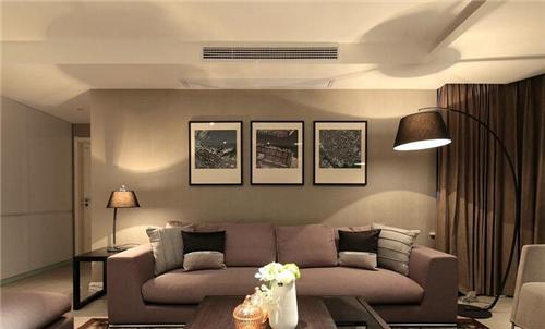 大多数中年人都会喜欢这样的客厅装修,美观而且大气,传统灰色沙发上