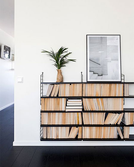 创意墙上书架效果图